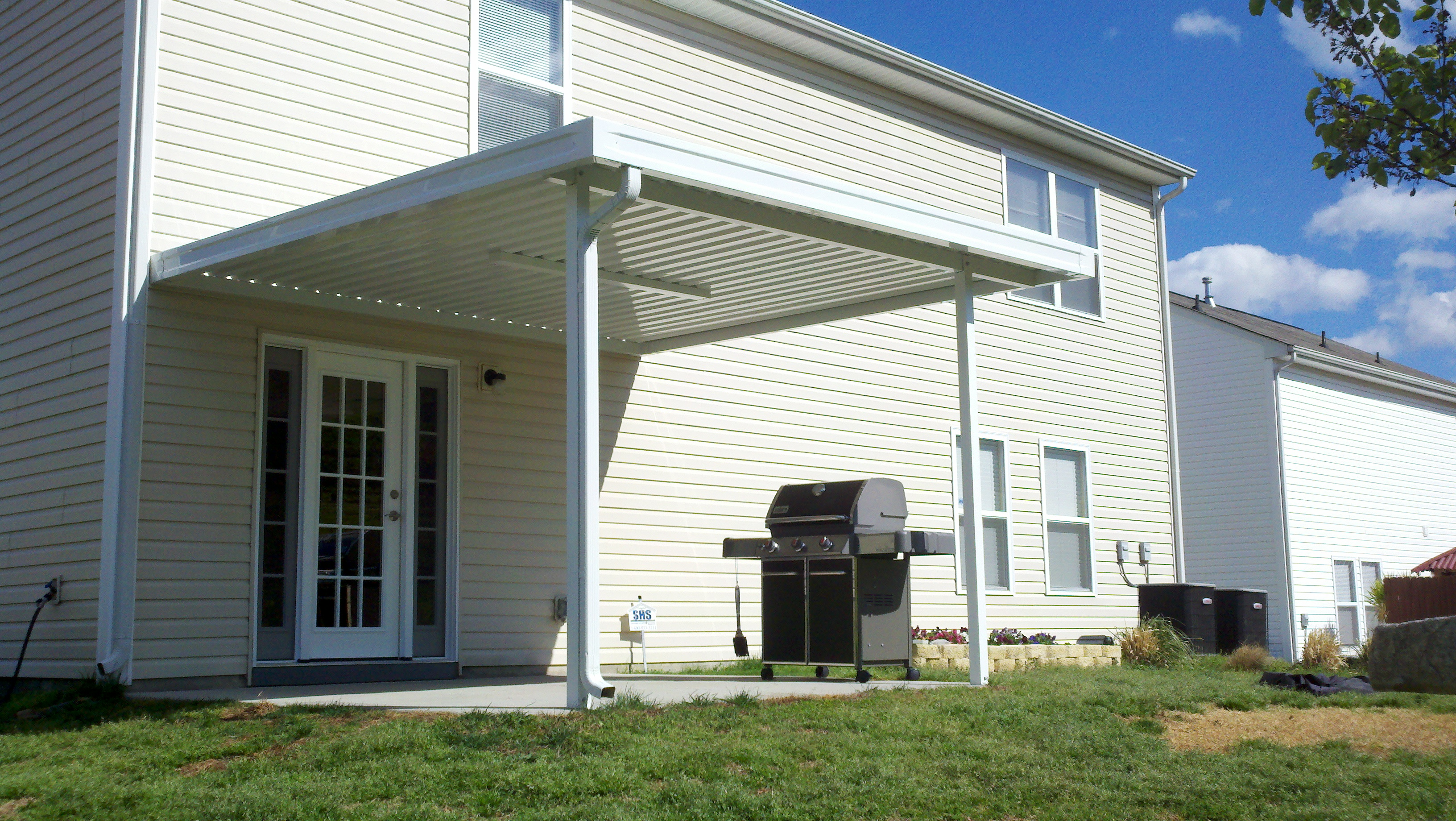 porch awning adds home living for awnings the to aluminum and this shade space pin porches