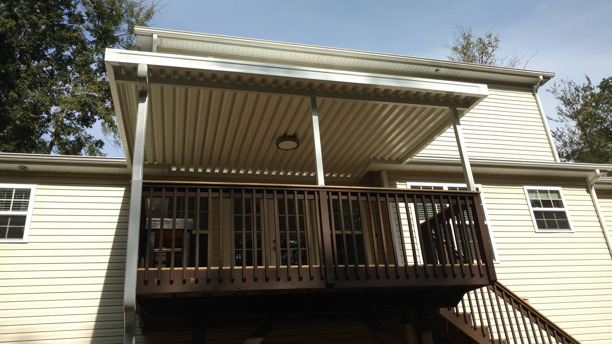 awnings your bonnieberk look awning stunning com building with steps making deck